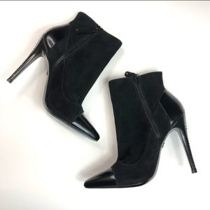 Alice and Olivia suede booties